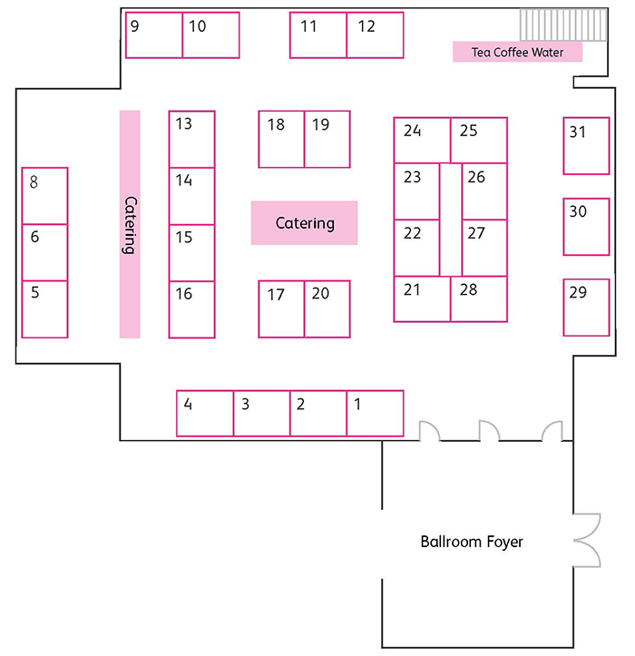 updated floor plan layout of the ucisa-IG19 exhibition