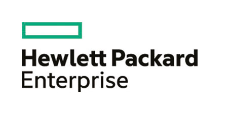 company logo for HPE