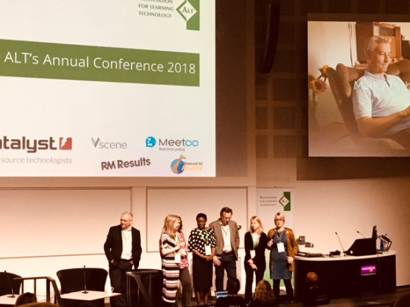 Colour photograph of the ALTC 2018 committee team launching the conference