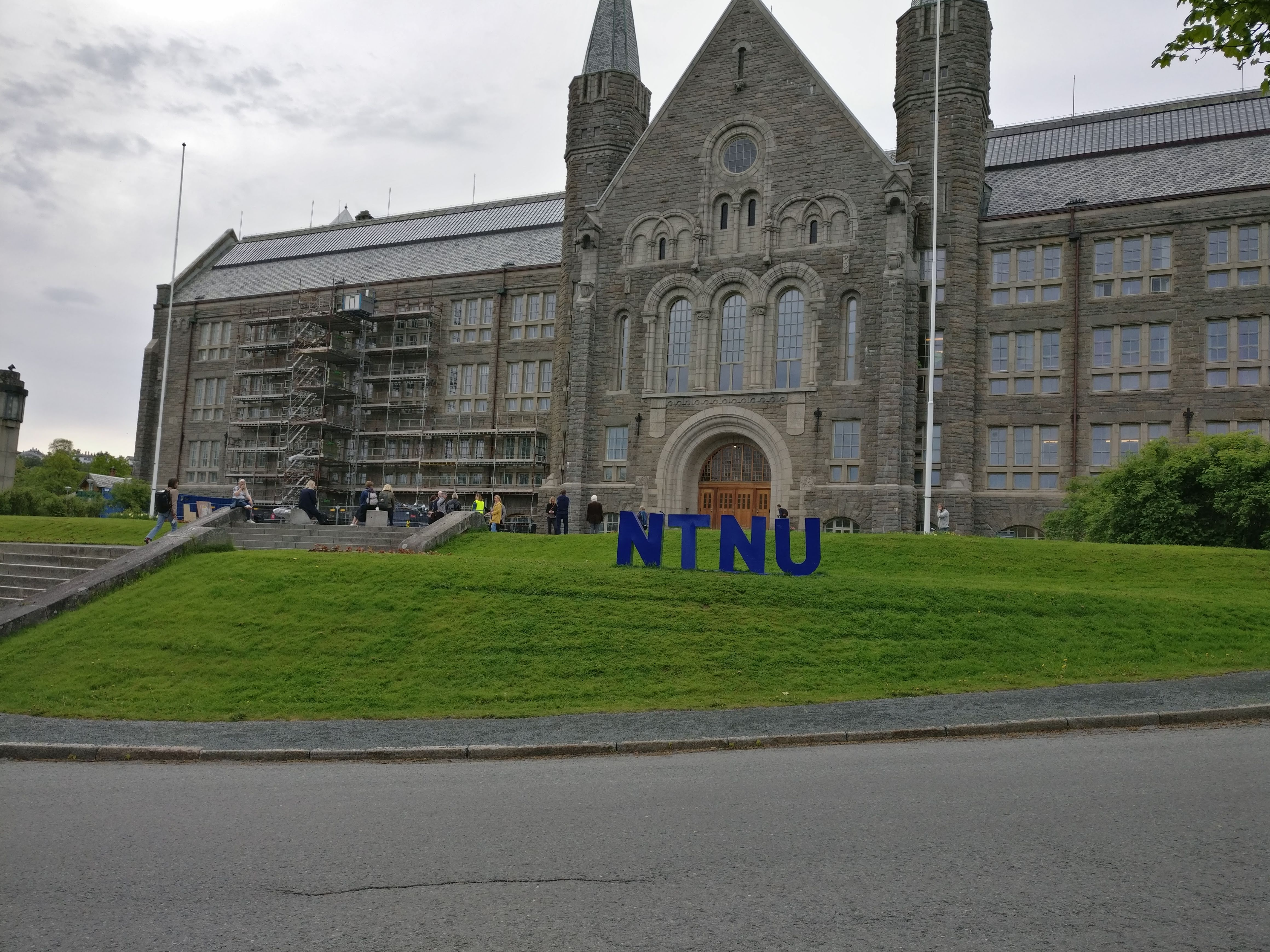 Colour photograph of the front of an NTNU (Norwegian University of Science and Technology) building